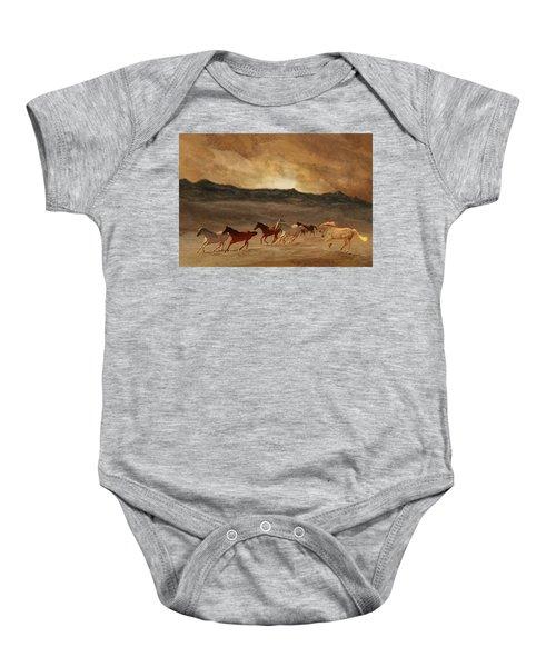 Horses Of Stone Baby Onesie