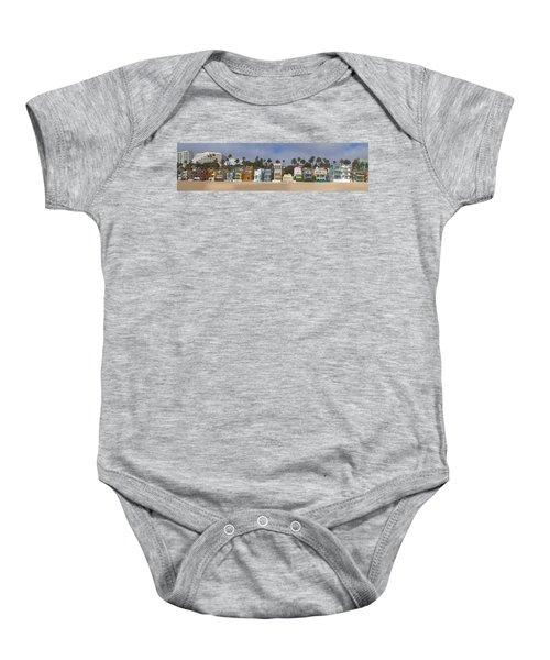 Houses On The Beach, Santa Monica, Los Baby Onesie