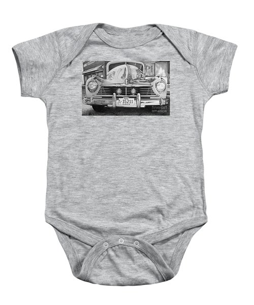Hudson Dreams In Black And White Baby Onesie