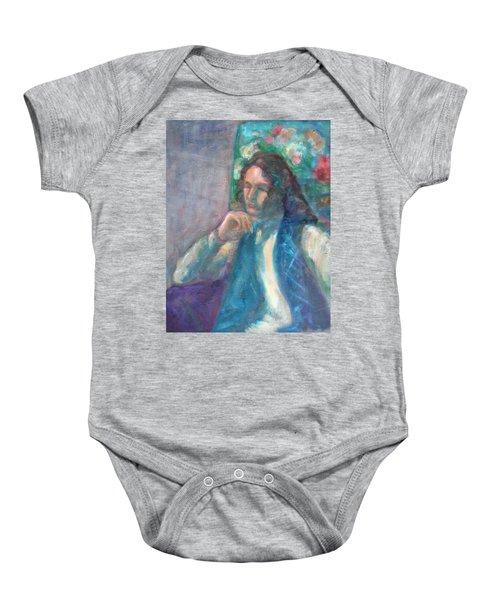 I Am Heathcliff - Original Painting  Baby Onesie