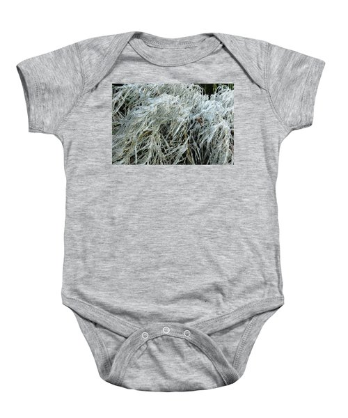 Ice On Bamboo Leaves Baby Onesie