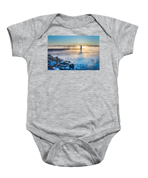 Icy Morning Mist Baby Onesie by Bill Pevlor