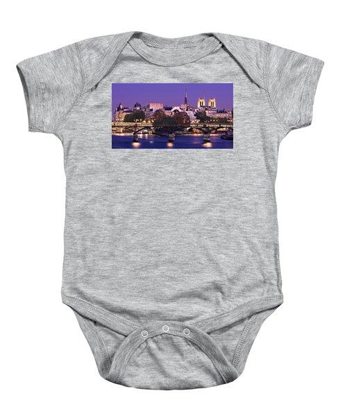 Ile De La Cite And Pont Des Arts / Paris Baby Onesie