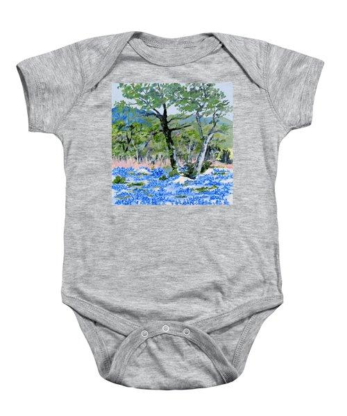 In April-texas Bluebonnets Baby Onesie