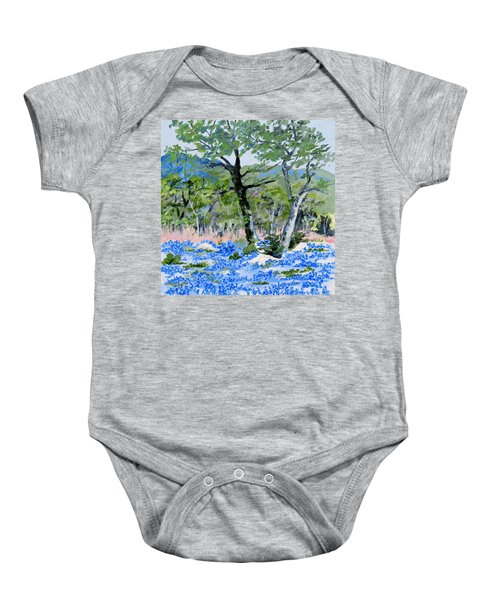 In April-texas Bluebonnets Baby Onesie