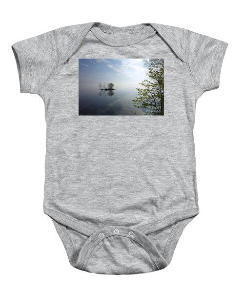 In The Distance On Mille Lacs Lake In Garrison Minnesota Baby Onesie
