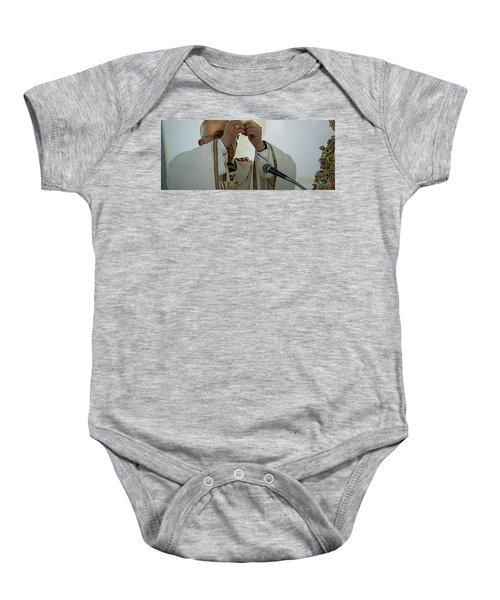Baby Onesie featuring the photograph Inauguration Pope Francis Vatican  Rom 19 February 2013  by Colette V Hera  Guggenheim