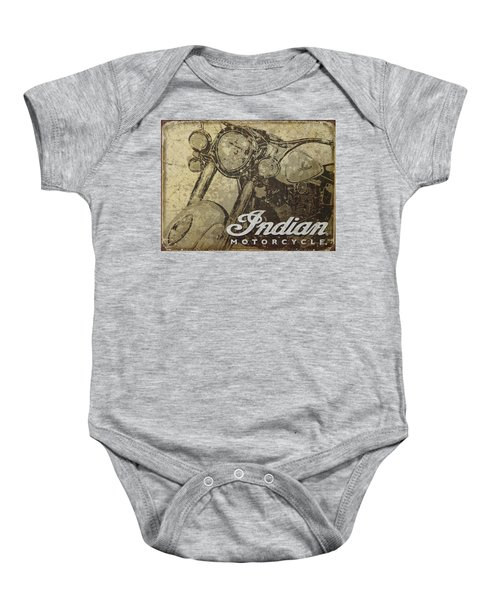 Indian Motorcycle Poster Baby Onesie