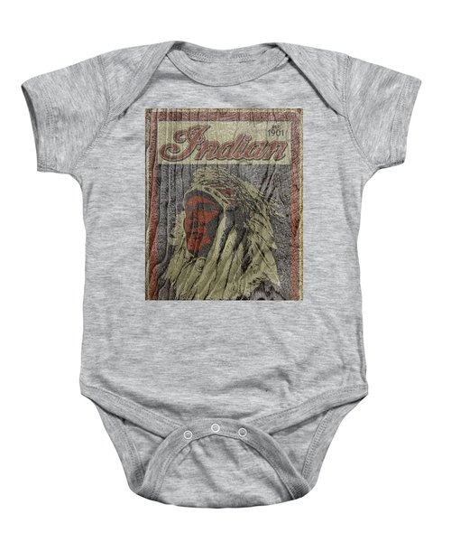 Indian Motorcycle Postertextured Baby Onesie