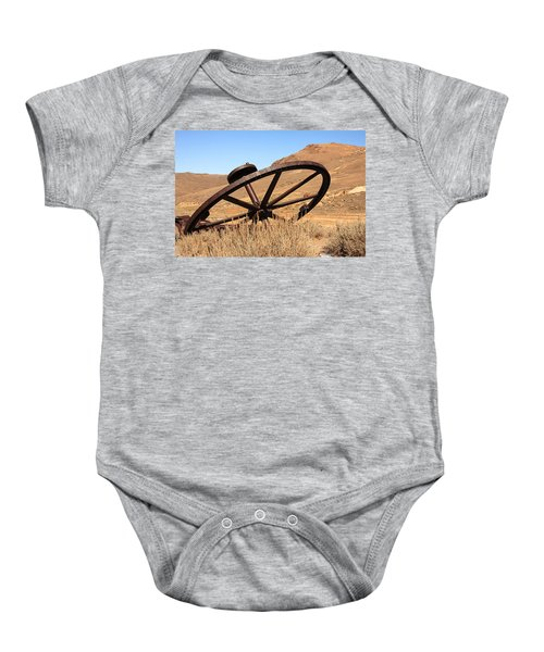 Industrial Wheel Baby Onesie