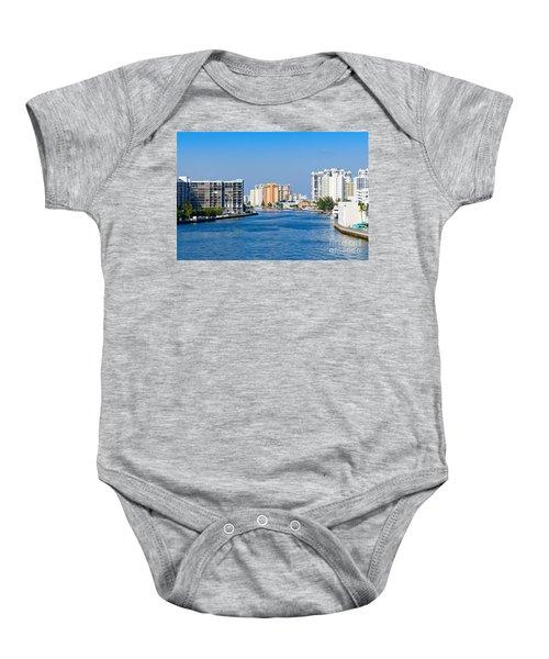 Intracoastal Waterway In Hollywood Florida Baby Onesie