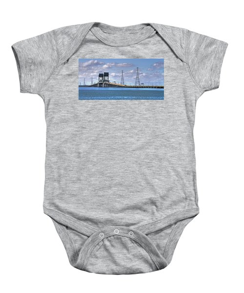 James River Bridge Baby Onesie