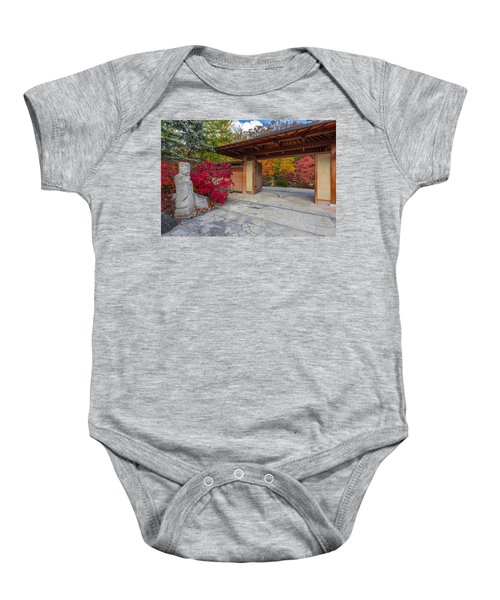 Baby Onesie featuring the photograph Japanese Main Gate by Sebastian Musial