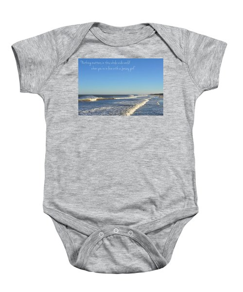 Jersey Girl Seaside Heights Quote Baby Onesie