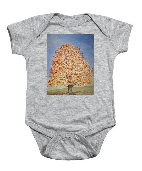 Jolanda's Maple Tree Baby Onesie
