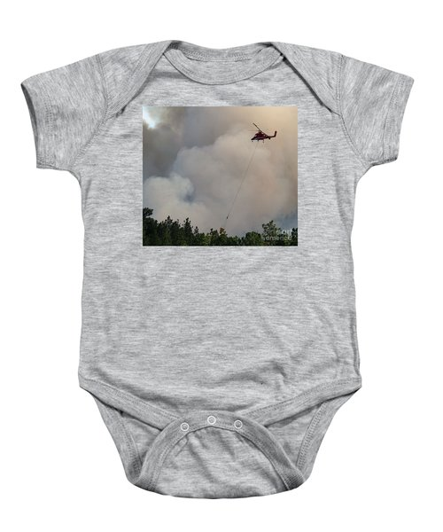 K-max Helicopter On Myrtle Fire Baby Onesie