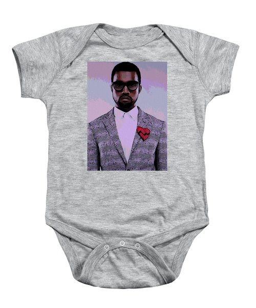 Kanye West Poster Baby Onesie by Dan Sproul