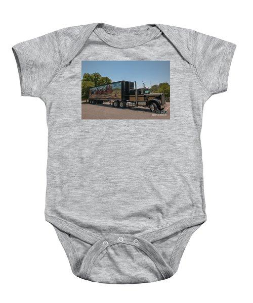 Keep Those Wheels A Truckin Baby Onesie