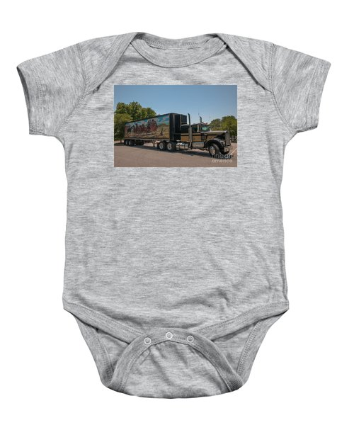 Keep Those Wheels A Truckin Baby Onesie