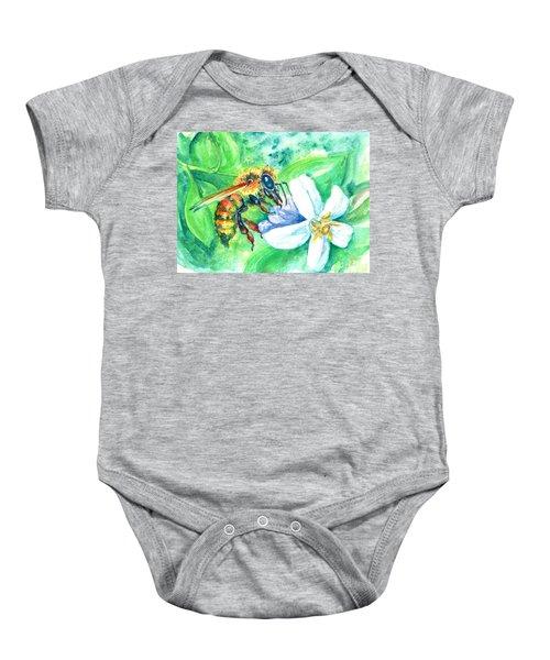 Key Lime Honeybee Baby Onesie