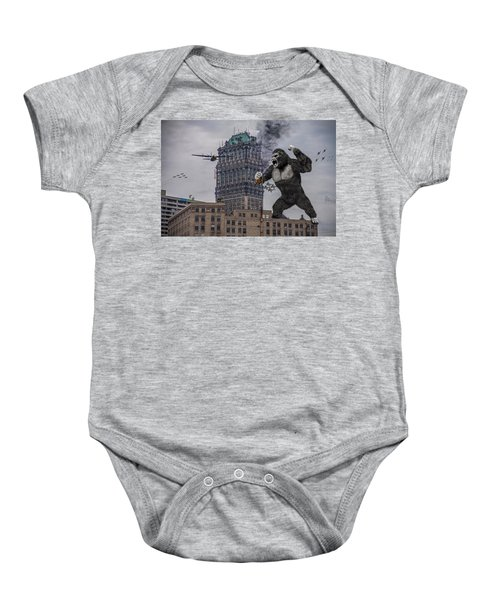 King Kong In Detroit At Wurlitzer Baby Onesie