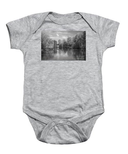 Lake Reflections Mono Baby Onesie