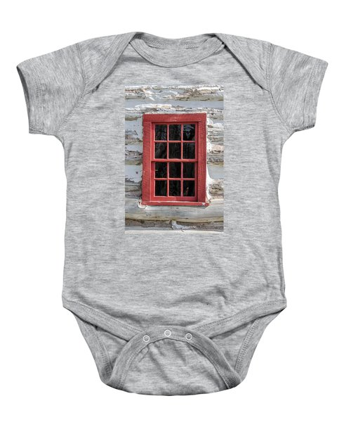 Landow Cabin Window Baby Onesie