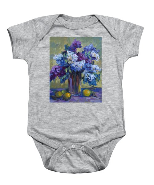 Lemons And Lilacs Baby Onesie