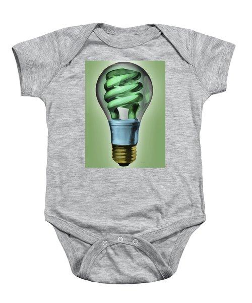 Light Bulb Baby Onesie