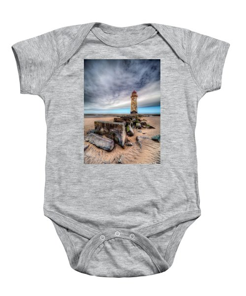 Lighthouse At Talacre  Baby Onesie