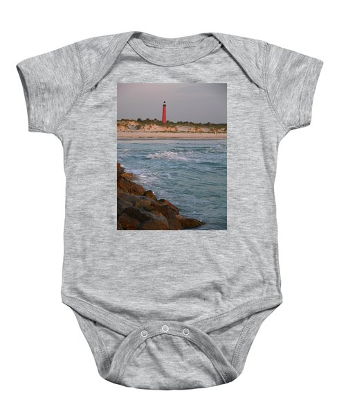 Lighthouse From The Jetty 2 Baby Onesie