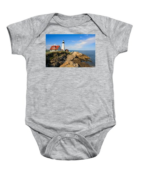 Lighthouse In The Sun Baby Onesie