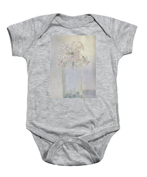 Lilac Flower Baby Onesie