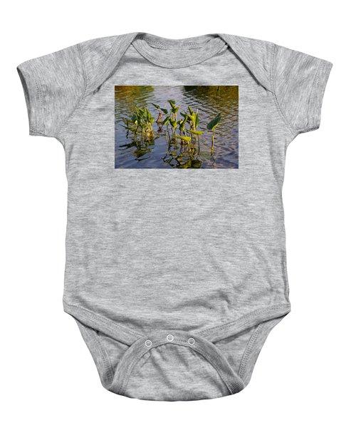 Lillies In Evening Glory Baby Onesie
