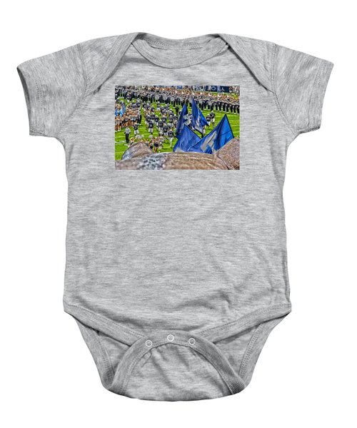 Lion Watching The Entrance Baby Onesie by Tom Gari Gallery-Three-Photography