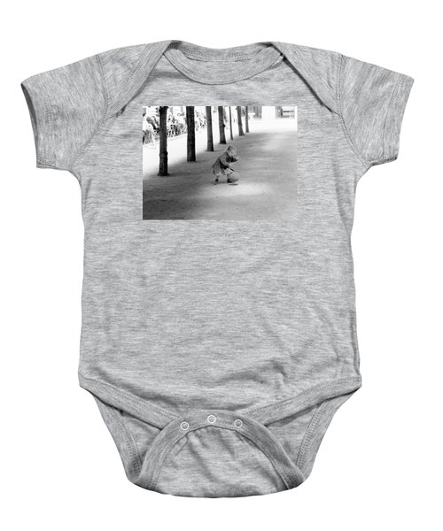 Little Girl With Ball Paris Baby Onesie