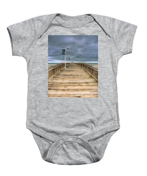 Little Island Pier Baby Onesie