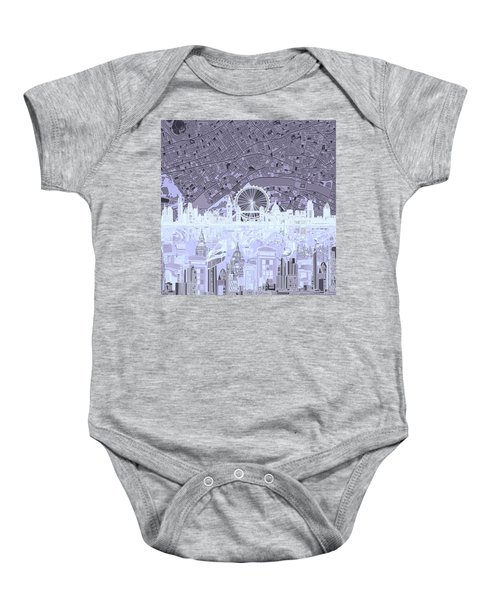 London Skyline Abstract 10 Baby Onesie