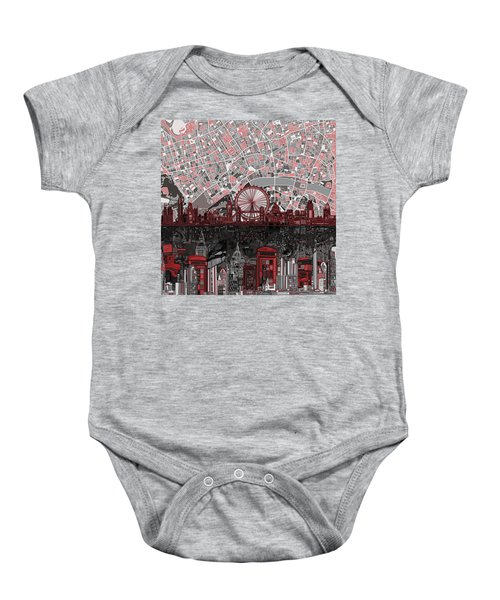 London Skyline Abstract 6 Baby Onesie