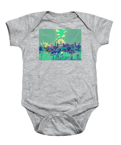 London Skyline Vintage 2 Baby Onesie