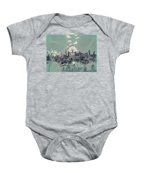 London Skyline Vintage Baby Onesie