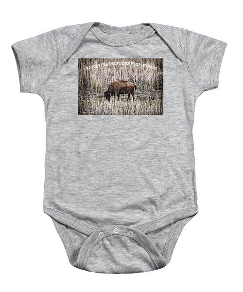 Lone Buffalo Baby Onesie