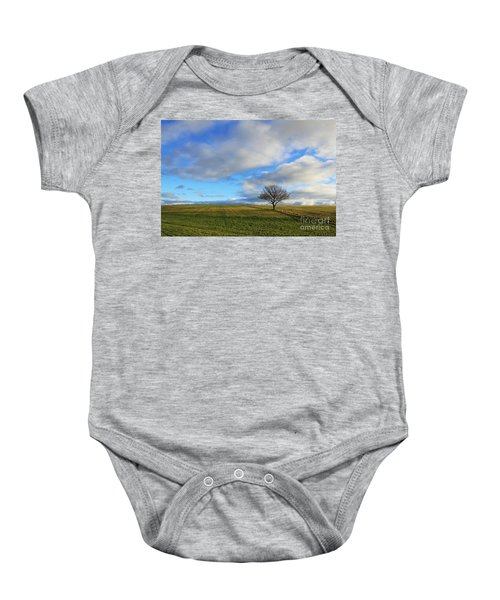 Lone Tree At Epsom Downs Uk Baby Onesie
