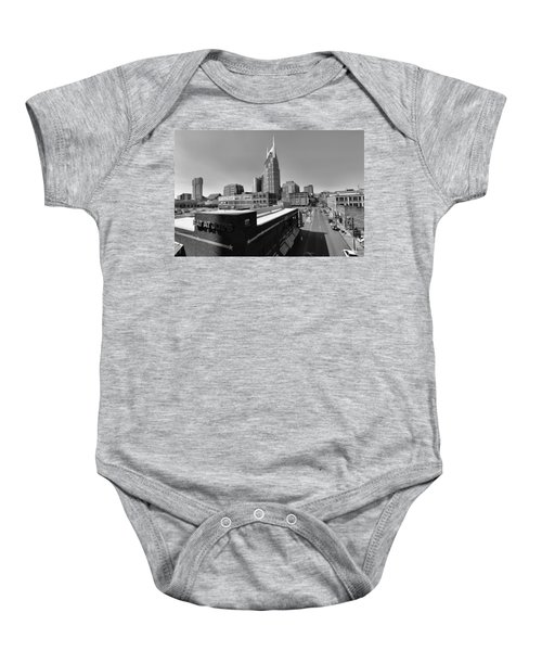 Looking Down On Nashville Baby Onesie by Dan Sproul