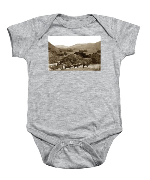 Looking Up The Carmel Valley California Circa 1880 Baby Onesie