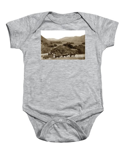 Looking Up The Carmel Valley California Circa 1880 Baby Onesie