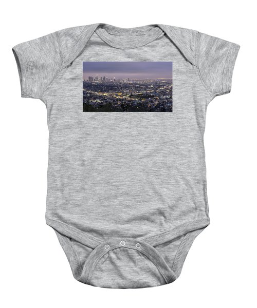Los Angeles At Night From The Griffith Park Observatory Baby Onesie