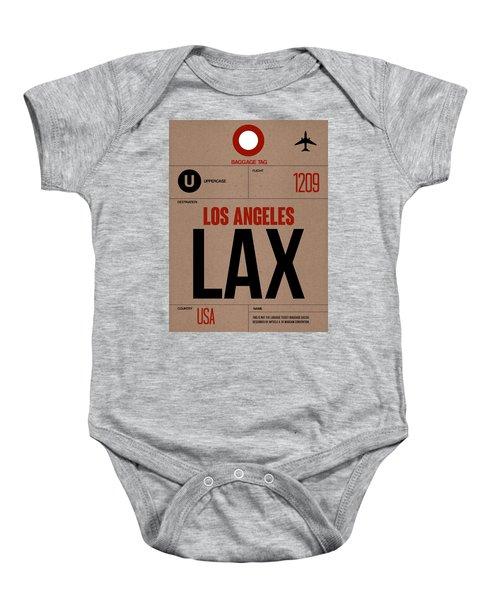 Los Angeles Luggage Poster 1 Baby Onesie