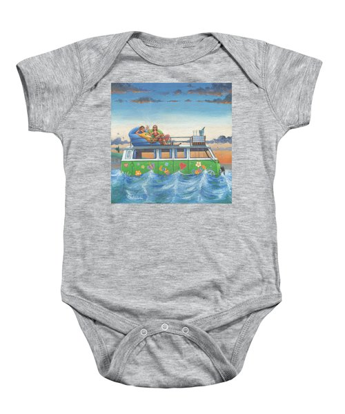 Love And Peace At Sea Baby Onesie