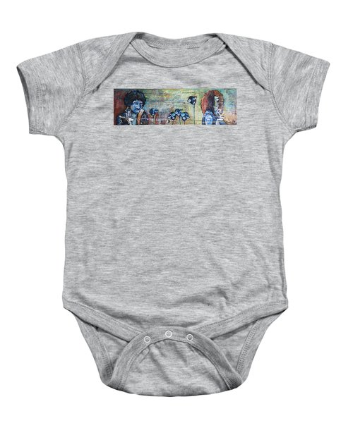 Love For Jimi And Jimmy Baby Onesie